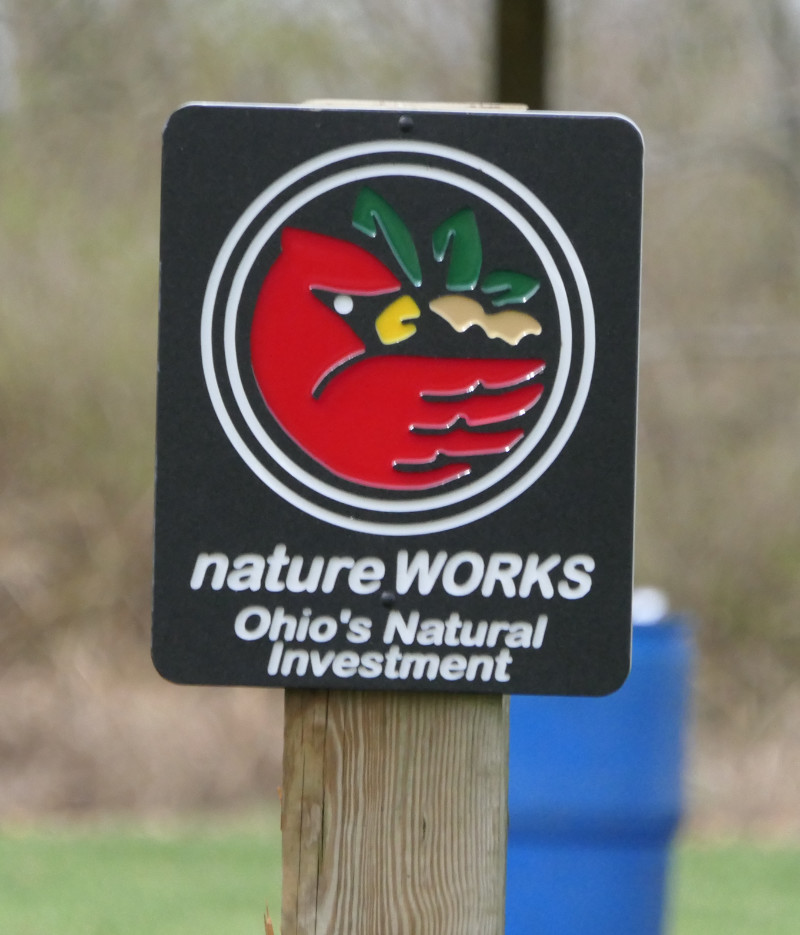 Nature Works sign at Ohio's Millennium Grove